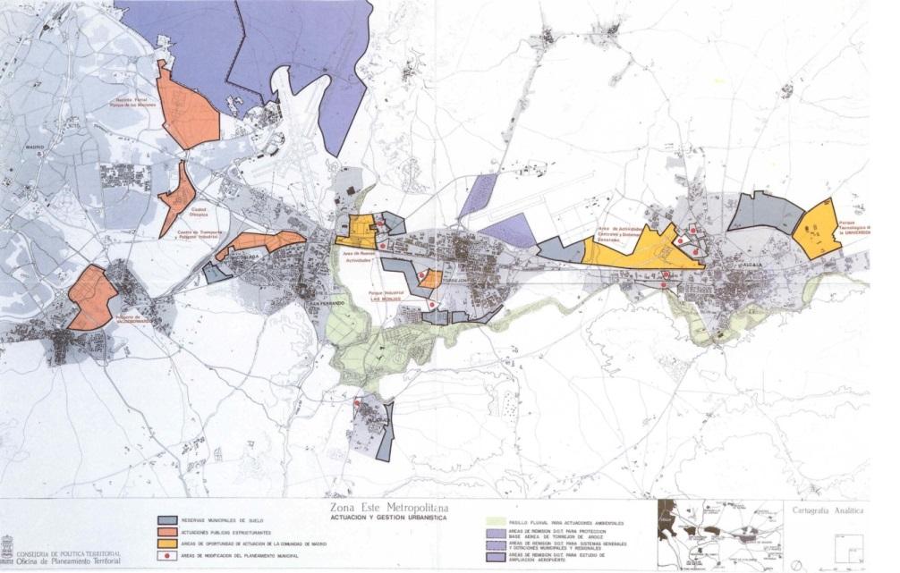 TERRAVANZA - Infraestructuras y Planeamiento Territorial_Ordenación de un Corredor Subregional. (Fuente: Terán, 1999)