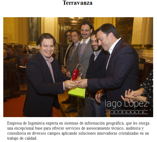Entrega a TERRAVANZA del Premio a la Innovación